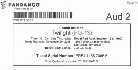 Twilight ticket